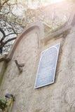Judisk gettovägg, Krakow, Polen royaltyfri bild