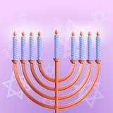 Judisk hanukkah begreppsbakgrund, tecknad filmstil vektor illustrationer