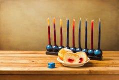 Judisk Hanukkah ferie arkivbilder
