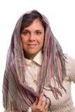 Judisk kvinna, främre sikt Arkivfoto