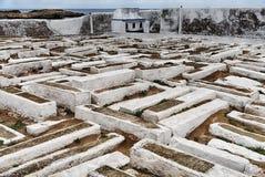 Judisk kyrkogård i Essaouira royaltyfri foto