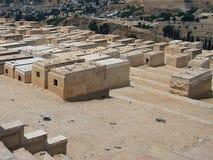 Judisk kyrkogård på Mount of Olives Royaltyfria Foton