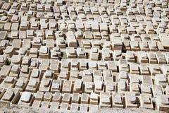 Judisk kyrkogård på Olive Mountain, Jerusalem Royaltyfria Foton