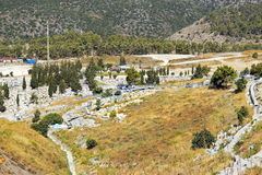 Judisk kyrkogård, Safed, övreGalilee, Israel Royaltyfria Foton