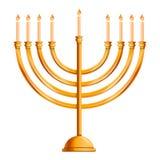 Judisk menorasymbol, tecknad filmstil royaltyfri illustrationer
