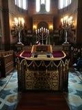 Judisk religion Konstnärlig blick i livliga färger Arkivfoton
