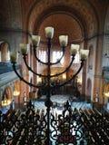 Judisk religion Konstnärlig blick i livliga färger Arkivfoto