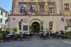 Judisk restaurang i Lublin. Stad i Polen. Arkivfoto