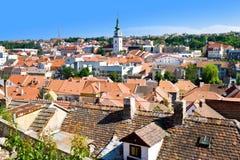 Judisk stad (UNESCO) och St Martin kyrka, Trebic, Vysocina, Tjeckien, Europa Royaltyfri Fotografi