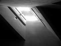 Judisk svartvit museumberlin arkitektur Arkivbild