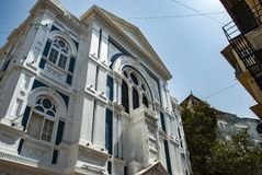 Judisk synagoga i Mumbai i Indien royaltyfri fotografi