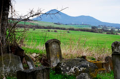 judisk tombstone Arkivfoto