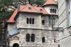 Judiska ceremoniella Hall i Prague Arkivfoto