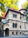 Judiska ceremoniella Hall nära den Klausen synagogan, Josefov judisk fjärdedel, gammal stad av Prague, Tjeckien Arkivfoto