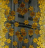 Judiska emblem från på judiskt gettomuseum på den Terezin Tjeckien arkivfoton