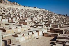Judiska gravar i Jerusalem Royaltyfria Bilder