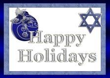 judiska greeting lyckliga ferier för kort Arkivfoto