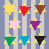 Judiska gula stjärnaklassifikationer Royaltyfri Fotografi