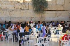 Judiska kvinnor på den att jämra sig väggen Royaltyfri Foto