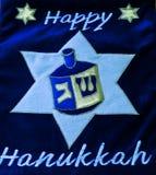 judiska lampor för hanukkah ferie Royaltyfri Fotografi
