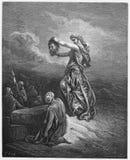 Judith visar huvudet av Holofernes Arkivfoton
