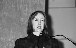 Judith Watt. Organiser of the British No Smoking Day campaign, at a press conference in London on February 19, 1992 Royalty Free Stock Image