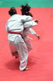 Judo. Two girls in a fight of Judo during the 24 international tournament in Genoa on 21 and 22 April 2012 stock images