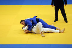 Judo action. Unknown judo fighters pictured in action during the European Judo Championships for Individual Juniors held in Bucharest stock photography