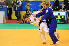 Judo - Alesya Kuznetsova and Katharina Menz Stock Photography