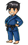 Judo boy. Cute character for any judo sports Royalty Free Stock Image