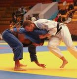 Judo championship. KHARKIV, UKRAINE - NOVEMBER 28:  Unidentified participants scramble within Ukrainian judo championship, November 28, 2009 in Kharkov, Ukraine Royalty Free Stock Photography