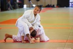 Judo Class at Shudokan Hall in Osaka, Japan Stock Image