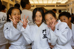 Judo Class at Shudokan Hall in Osaka, Japan Royalty Free Stock Photography