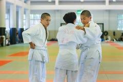 Judo Class at Shudokan Hall in Osaka, Japan Royalty Free Stock Images