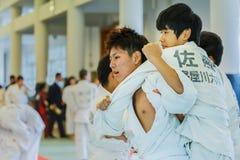 Judo Class at Shudokan Hall in Osaka, Japan Stock Photography