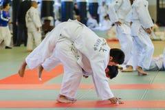 Judo Class at Shudokan Hall in Osaka, Japan Royalty Free Stock Image