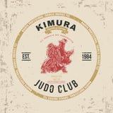 Judo Club T-shirt Print Design. Vector Royalty Free Stock Photos