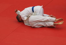 Judo Competition With Young Competitors Royalty Free Stock Images