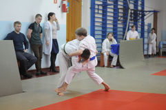 Judo competitions Stock Photography
