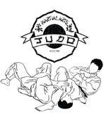 Judo d'arts martiaux Images libres de droits