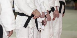 Judo d'hommes de groupe images stock