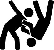 Judo fighter pictogram. Vector sports Royalty Free Stock Image