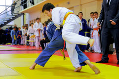 Judo fighting Royalty Free Stock Photo
