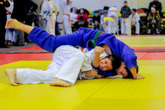 Judo fighting Stock Images