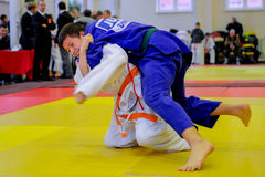 Judo fighting Stock Photography