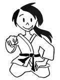 A judo girl in Seiza position Stock Photography