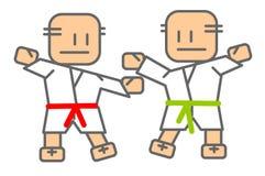 Judo - hommes illustration libre de droits