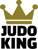 Judo king with crown. Vector Royalty Free Stock Images