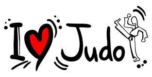 Judo love. Creative design of judo love Royalty Free Stock Photo
