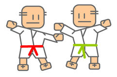 Judo - mensen royalty-vrije illustratie